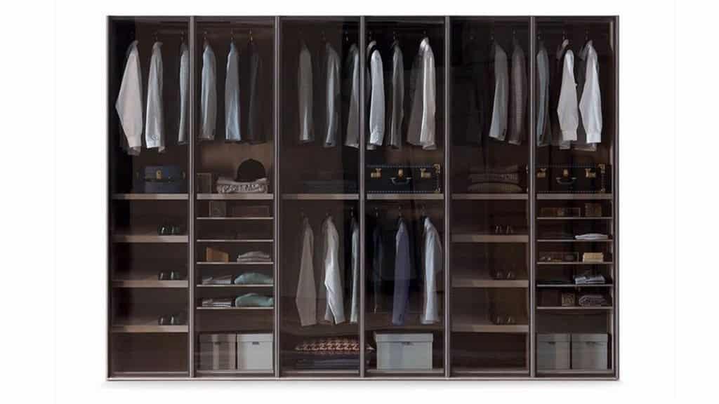 armoire sur-mesure avec portes en verre