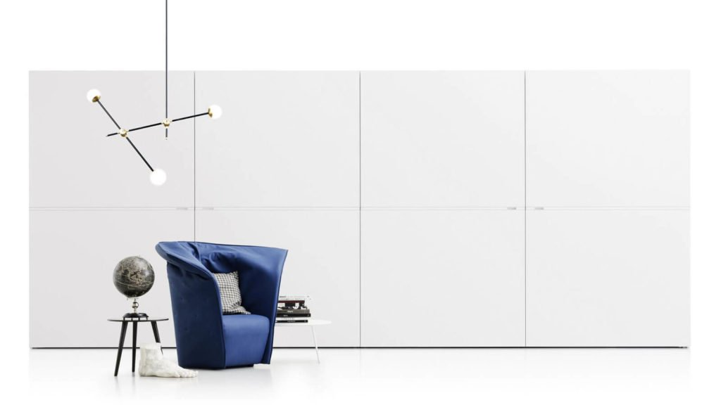 armoire blanche portes coplanaires