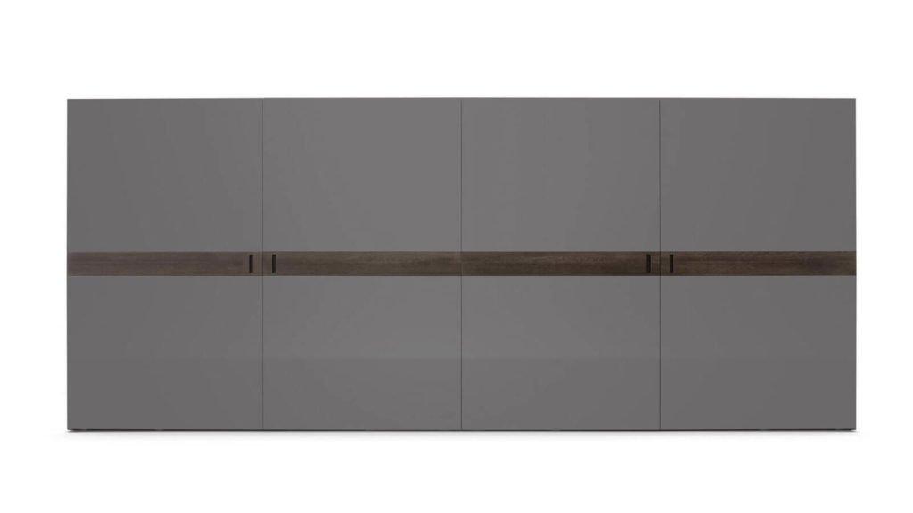 armoire portes coplanaires grises