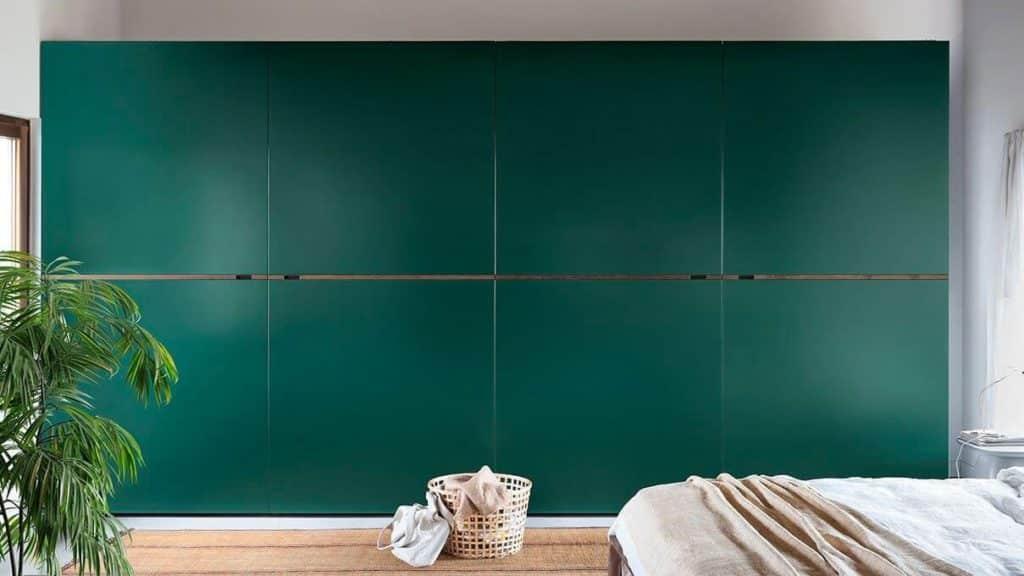 armoire portes coplanaires vertes