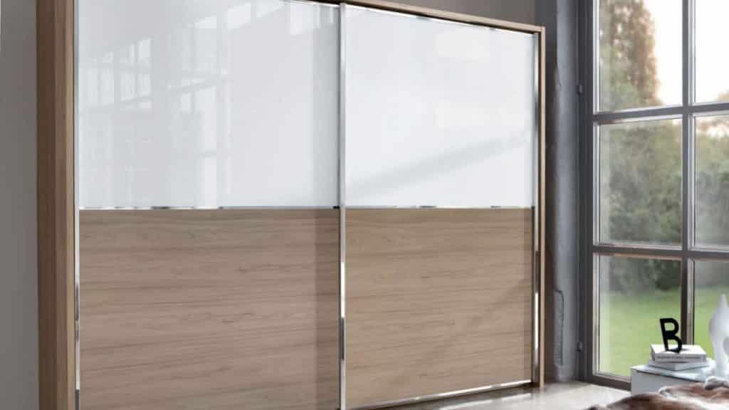 armoire portes coulissantes blanc bois