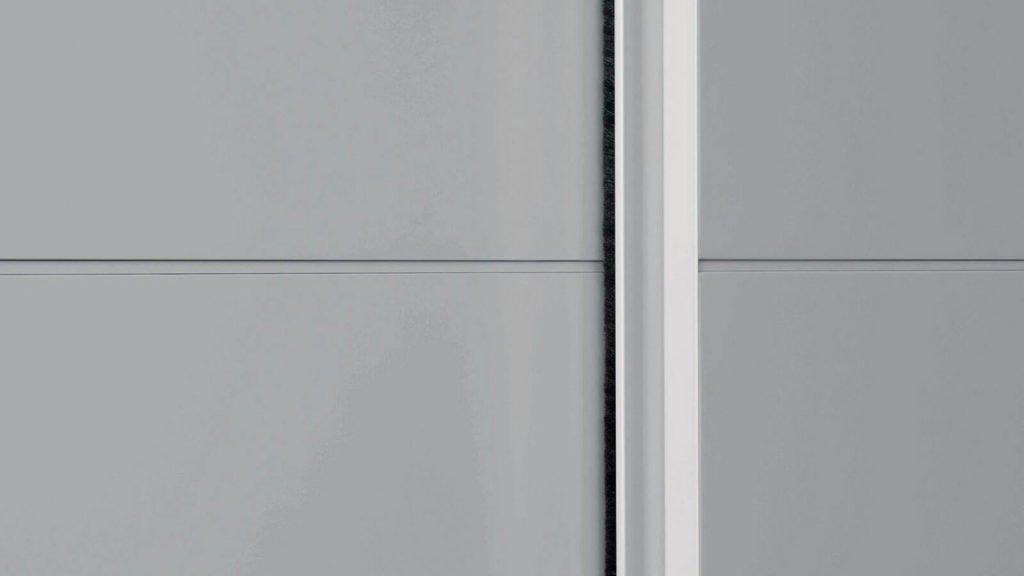 armoire portes coulissantes laque mate grise