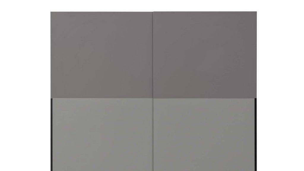 armoire portes coulissantes laquées grises
