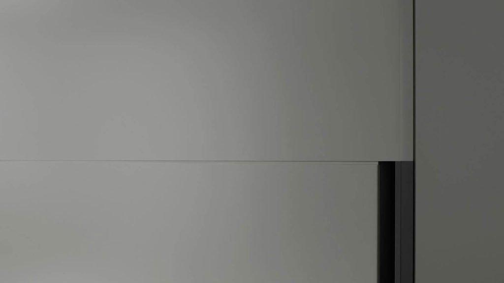 armoire portes laquées grises coulissantes