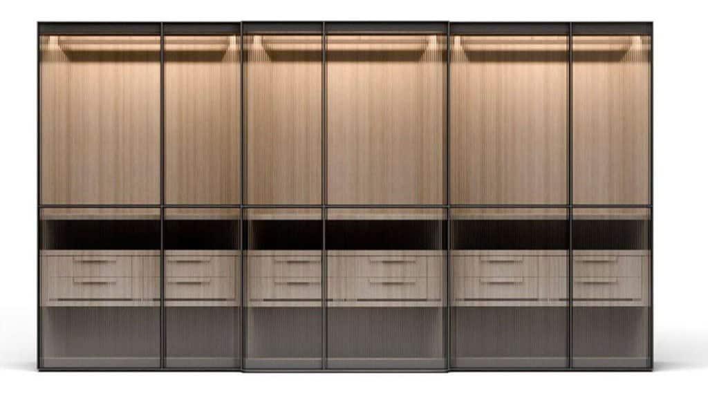 armoire portes coulissantes en verre