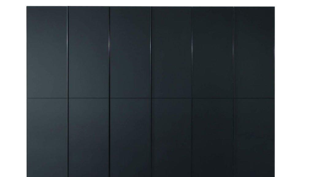 armoire noire verre laqué portes battantes