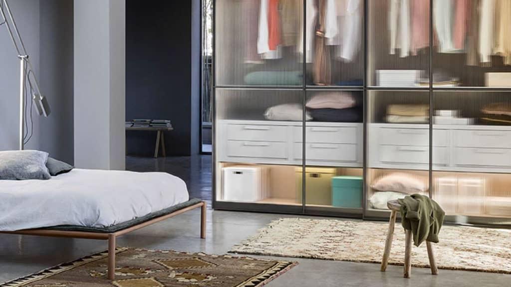 armoire porte coulissante verre