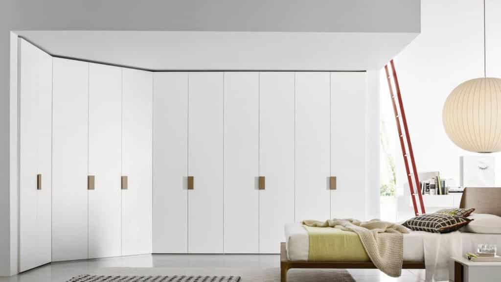 dressing d'angle blanc bois