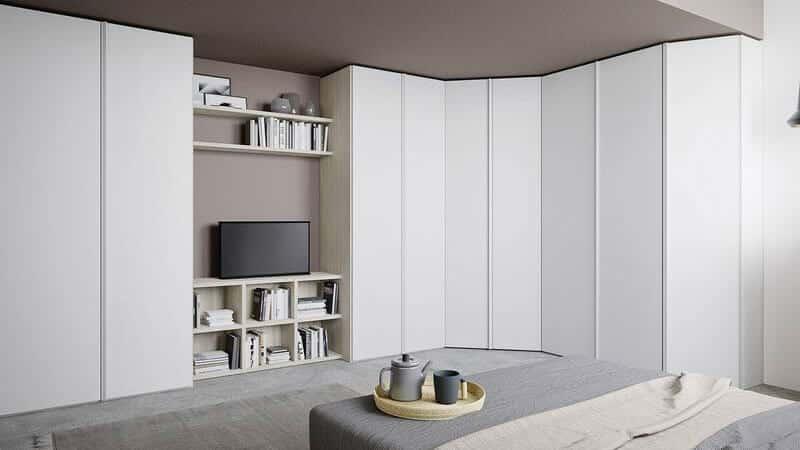 dressing d'angle blanc chambre