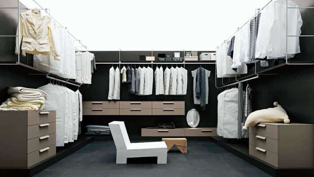 dressing ouvert penderie tiroirs