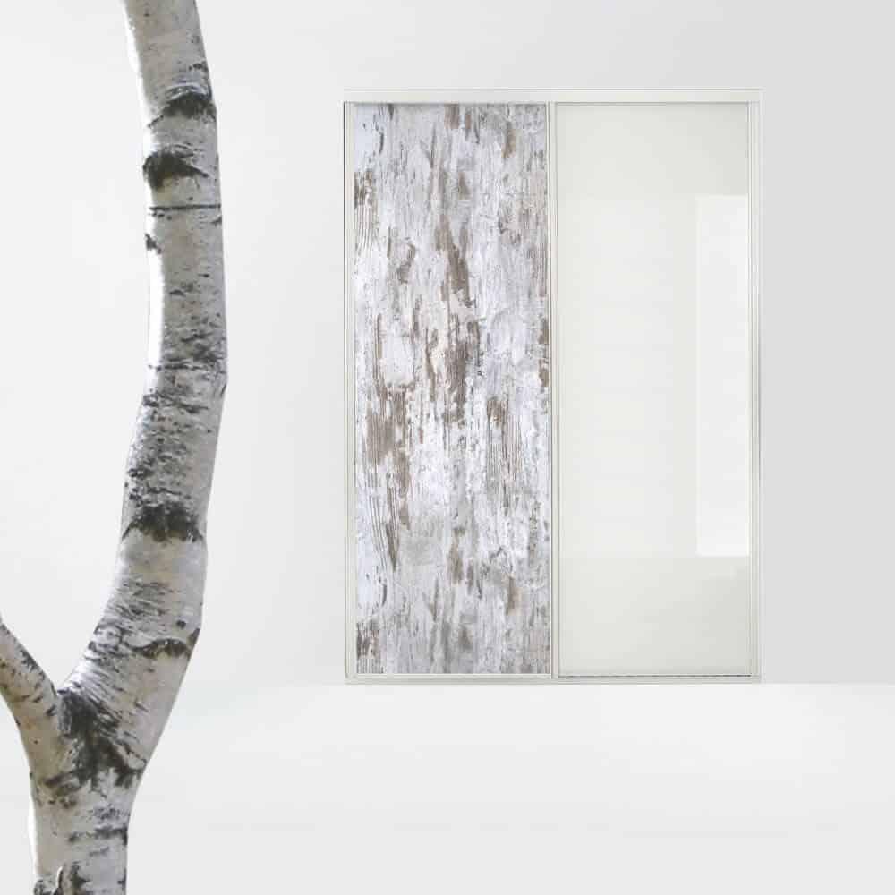 placard porte coulissante bois matières