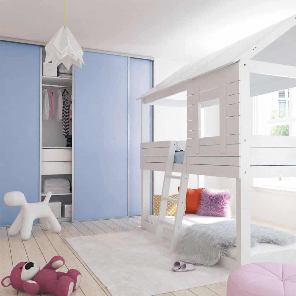 chambre enfant placard coulissant bleu
