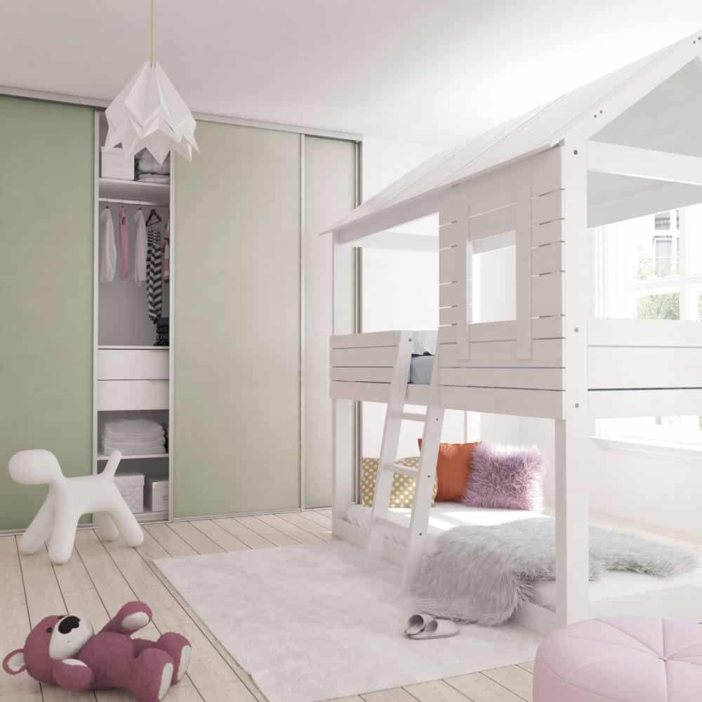 chambre enfant placard coulissant vert