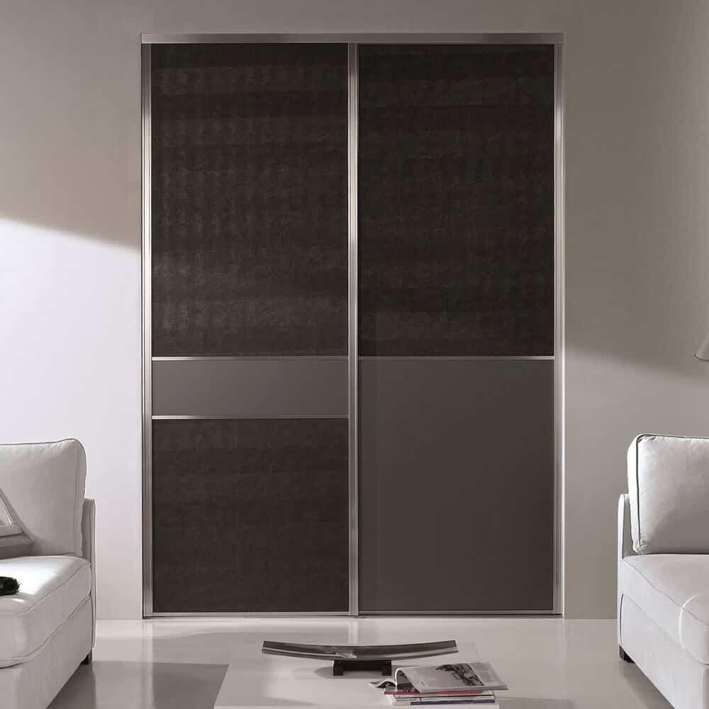 placard portes coulissantes noires grises