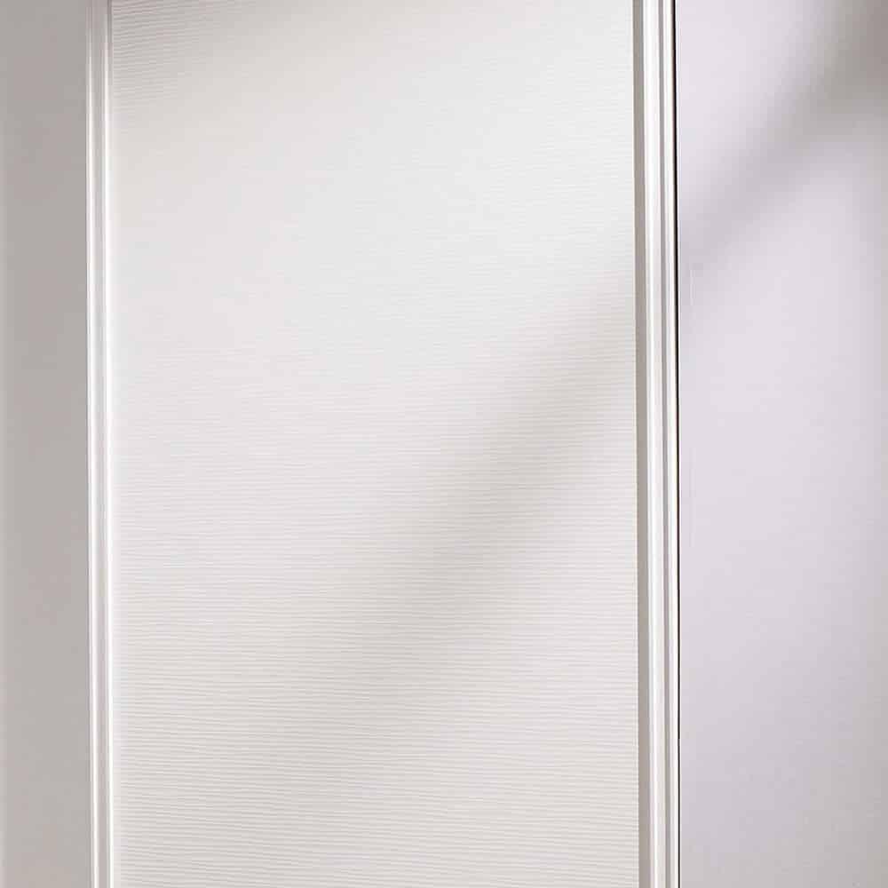 placard porte coulissante matière blanc