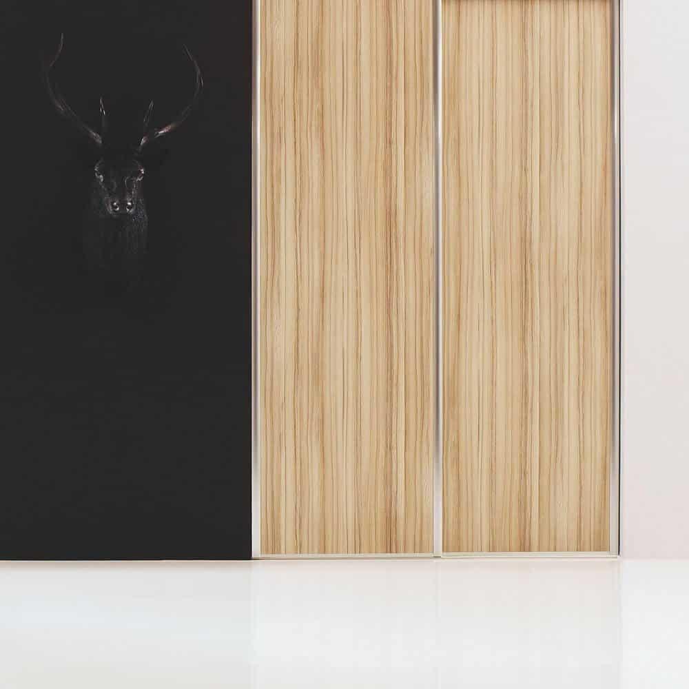 placard portes coulissantes bois