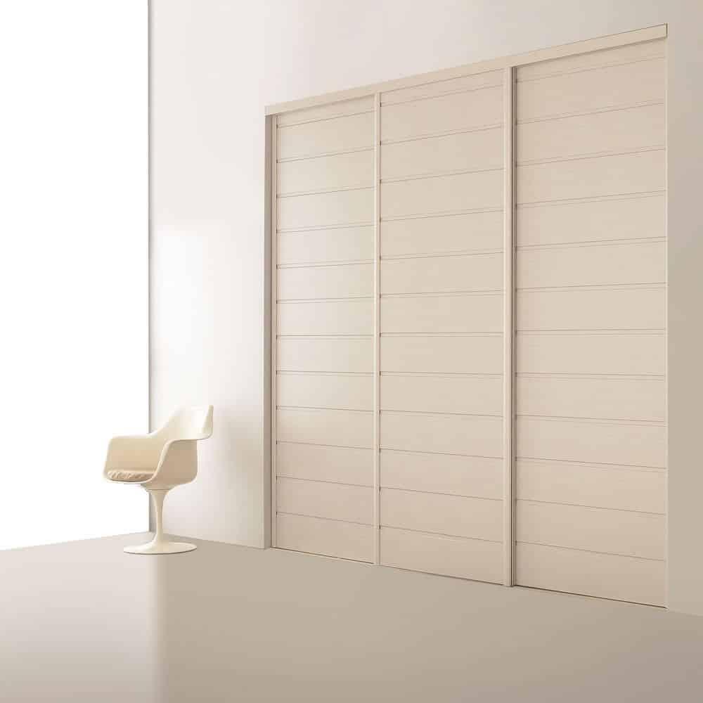 placard portes coulissantes lambris blanc