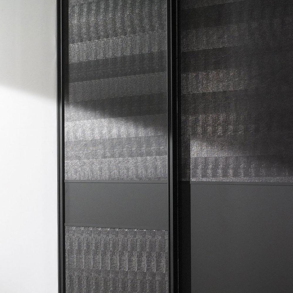 placard portes coulissantes noires
