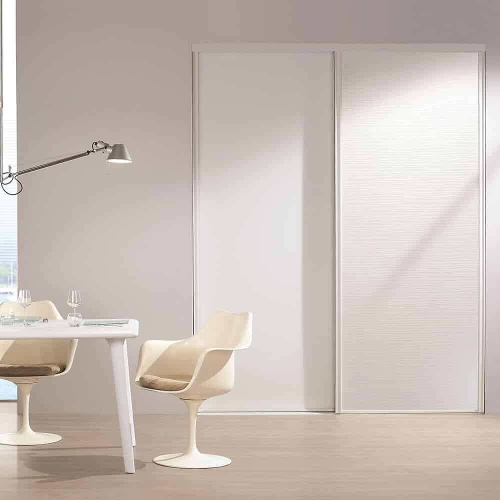 placard portes coulissantes matières blanches