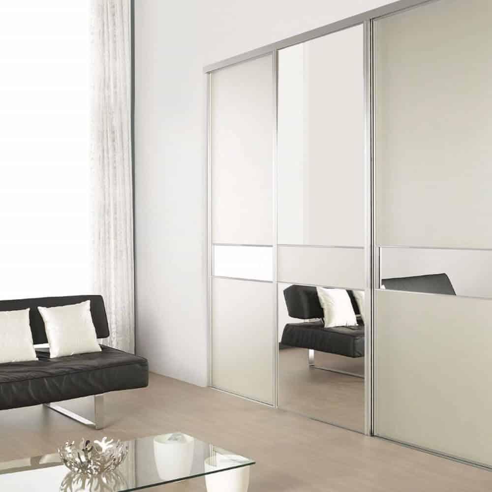 placard portes coulissantes miroirs