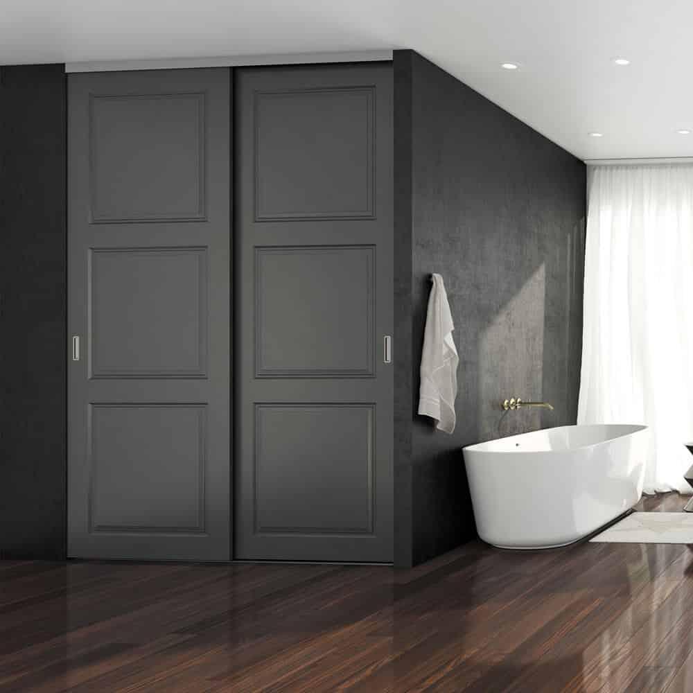 portes coulissantes placard salle de bain
