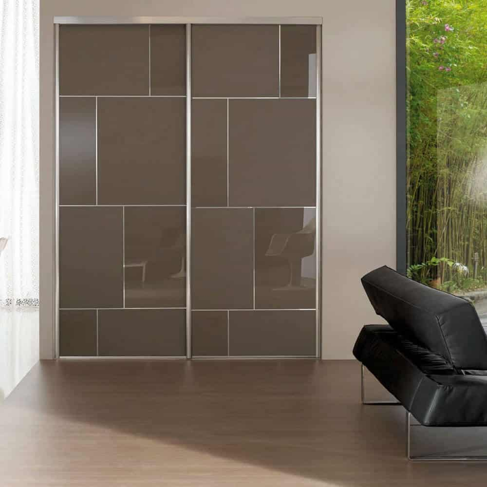 placard portes coulissantes taupes