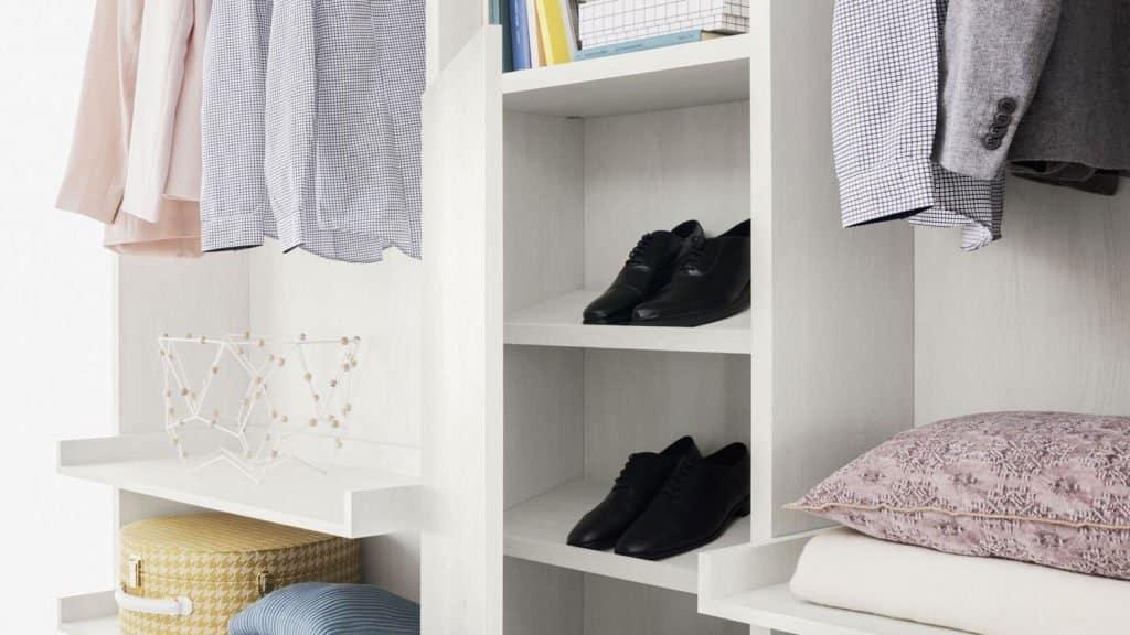 porte chaussures aménagement dressing
