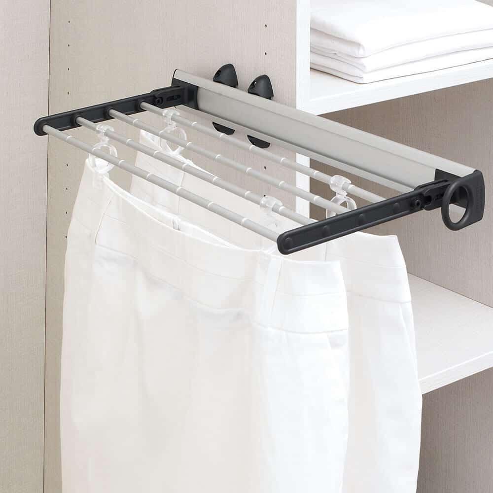 porte jupes coulissant tringle penderie aménagement placard