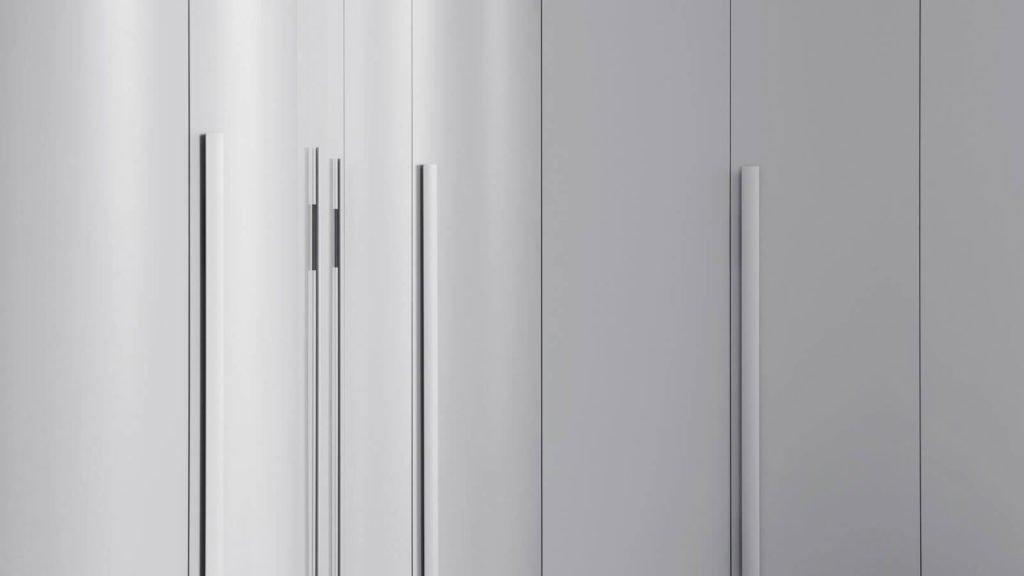 portes battantes armoire arrondie