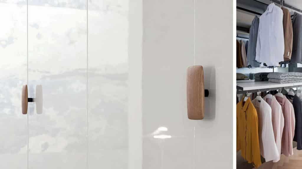portes battantes laquées brillantes armoire