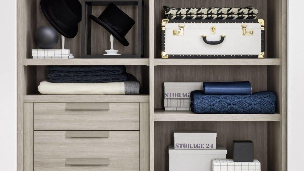 tiroirs armoire sur-mesure bois