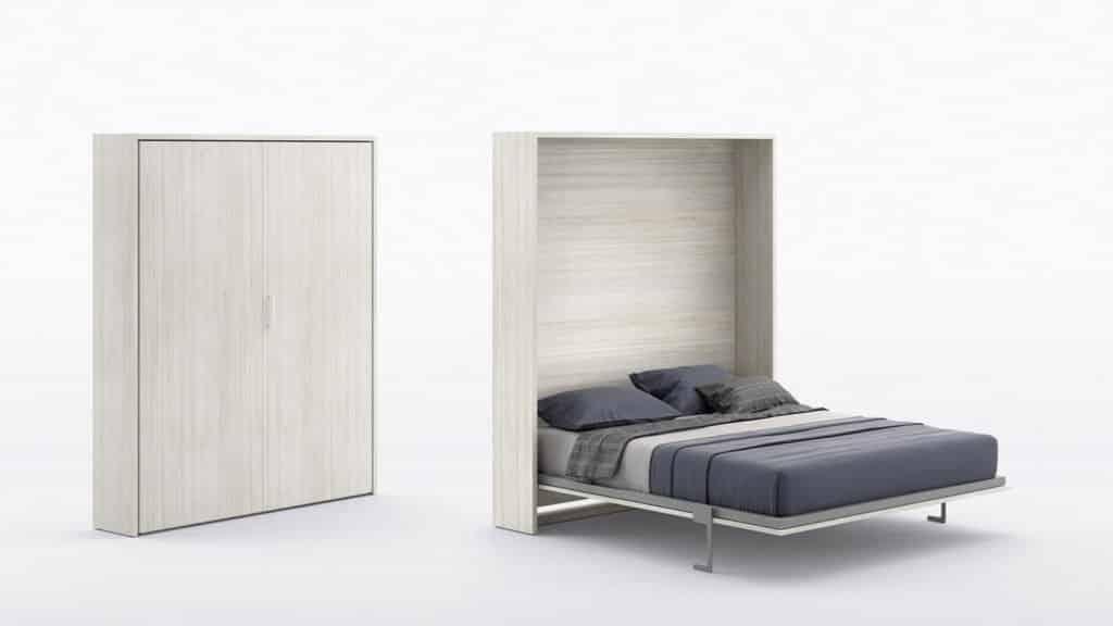lit armoire escamotable bois