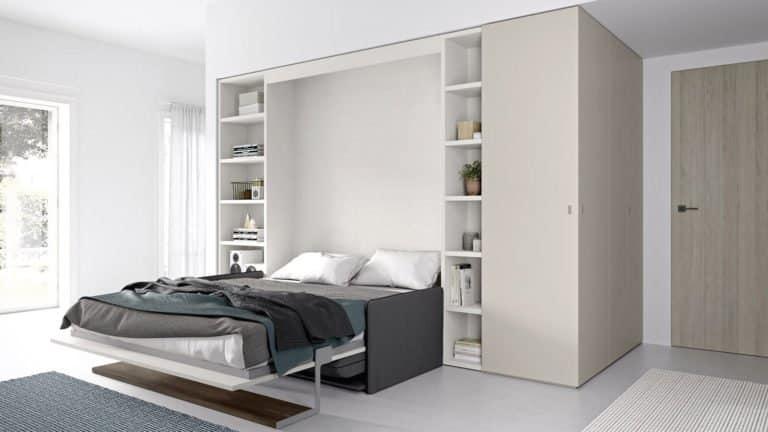 lit escamotable italien avec canapé