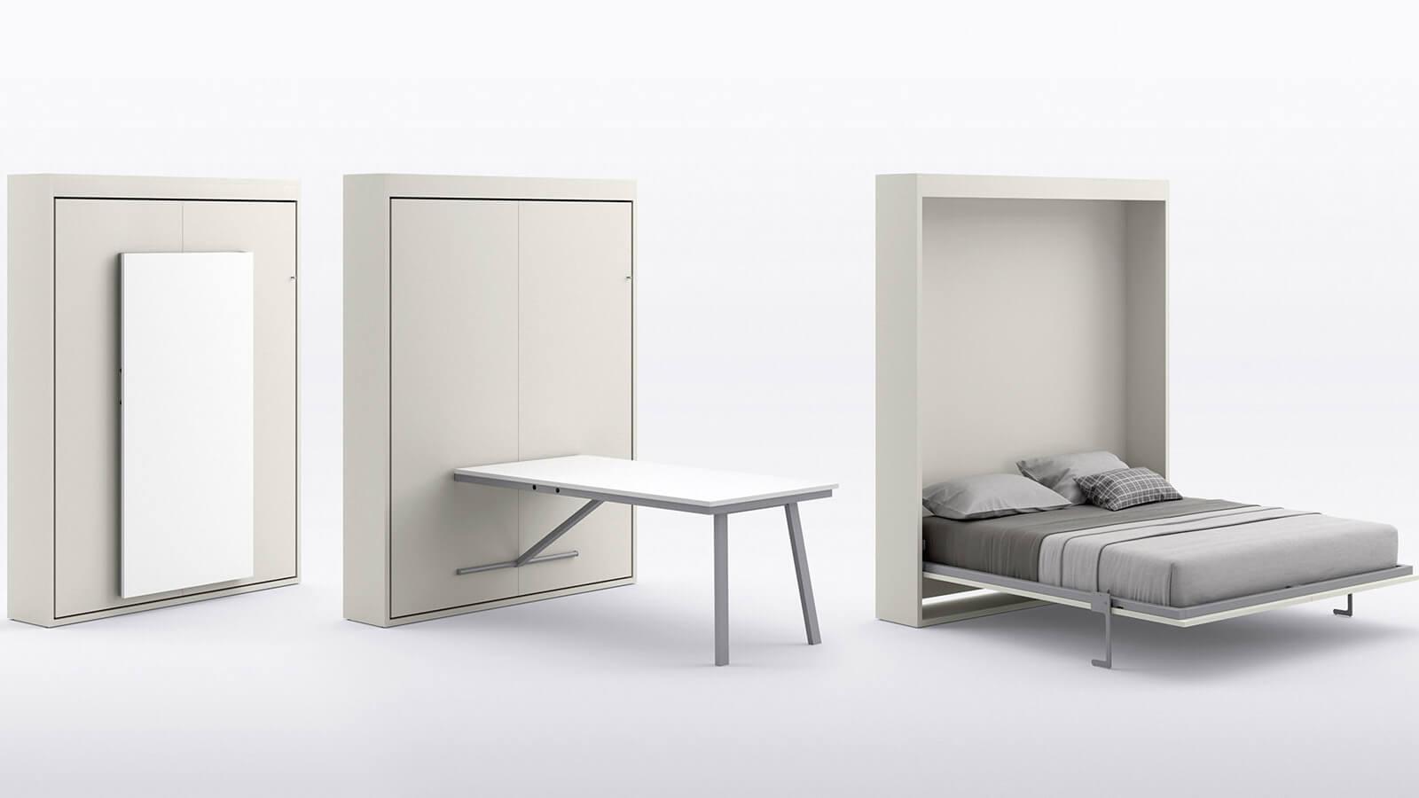 Table Rabattable Petit Espace lit escamotable bureau et table | gain de place | optimal annecy