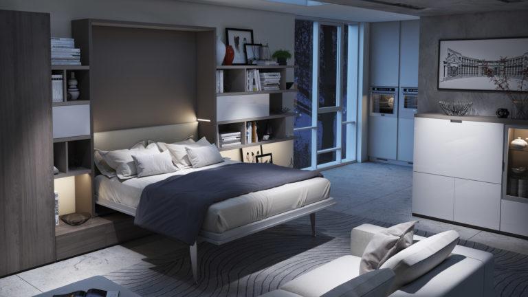 lit escamotable genève avec TV