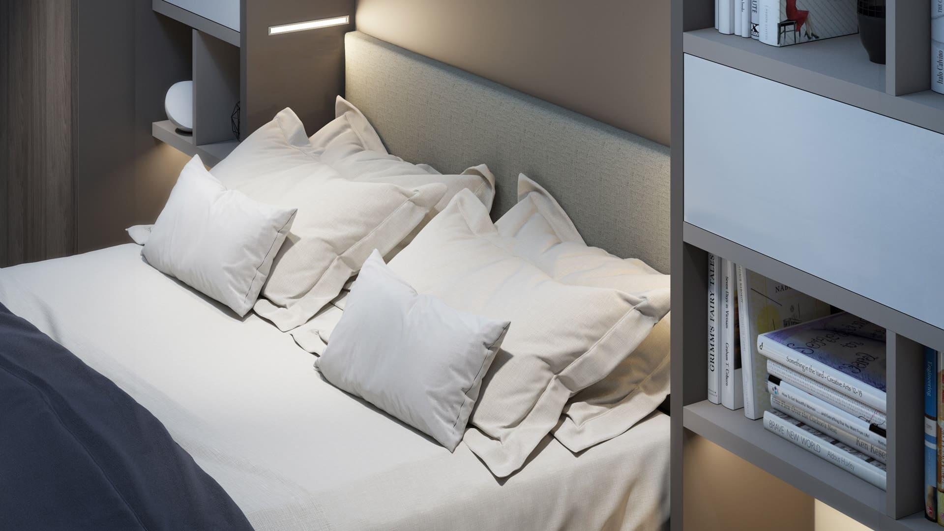 Tv Escamotable Lit l'armoire lit escamotable par le spécialiste du gain de place
