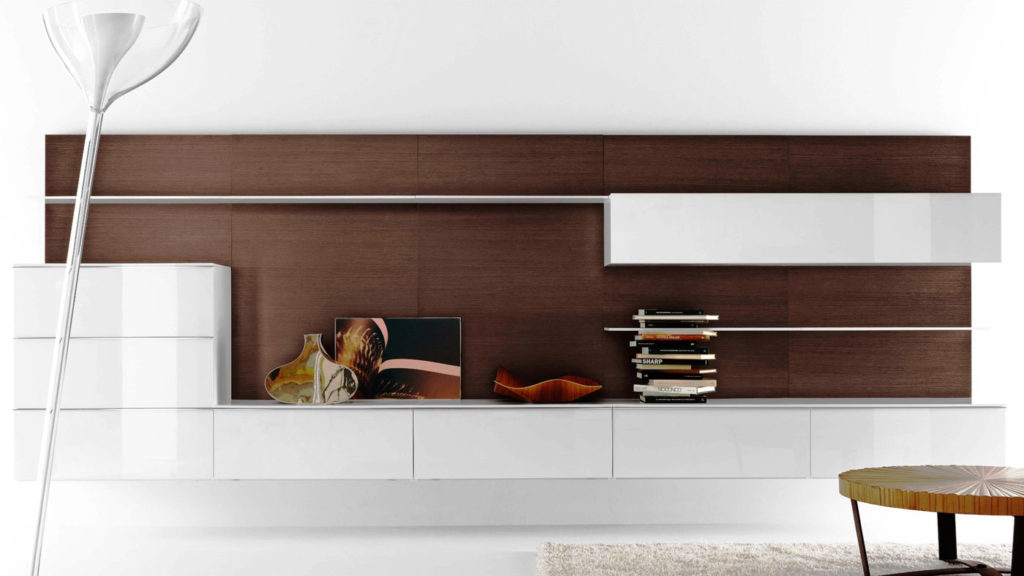 meuble blanc salon