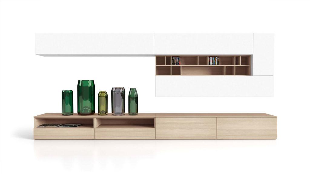 meuble salon bois blanc