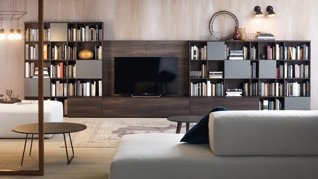 meuble tv bois foncé