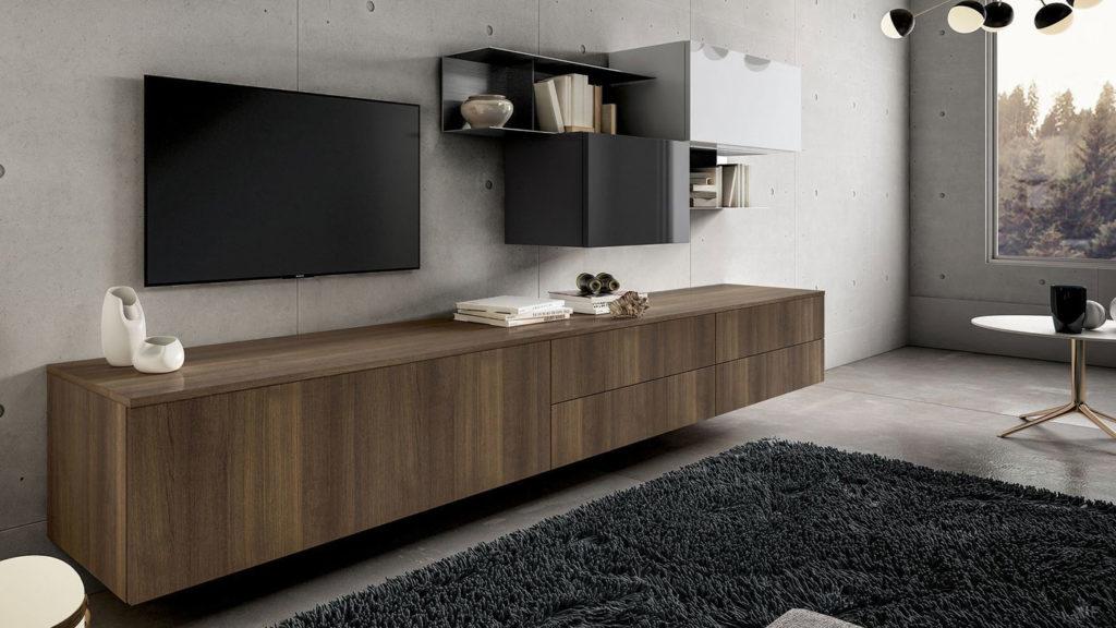 meuble tv design bois