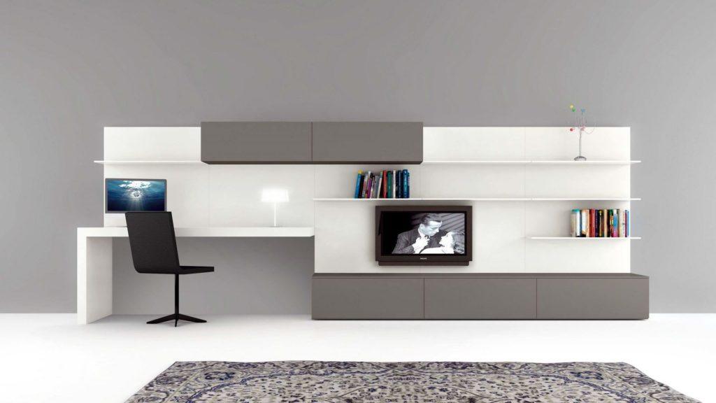 un bureau dans le salon