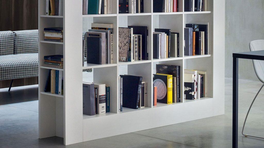 bibliothèque design blanche