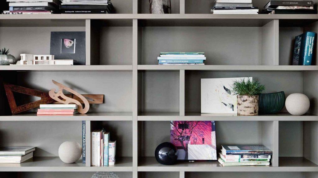 bibliothèque design annecy laquée modulaire