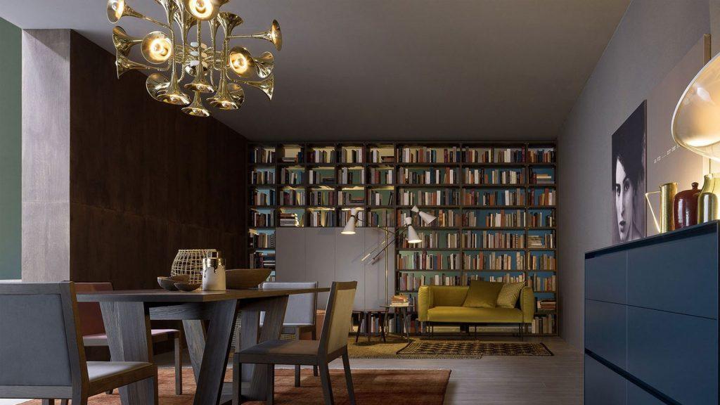 bibliothèque design bois biface annecy