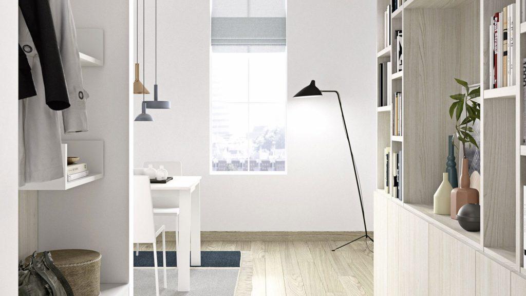 bibliothèque design genève bois clair