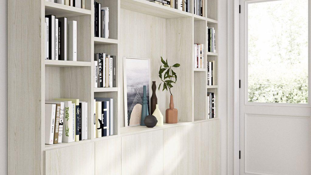 bibliothèque design genève bois