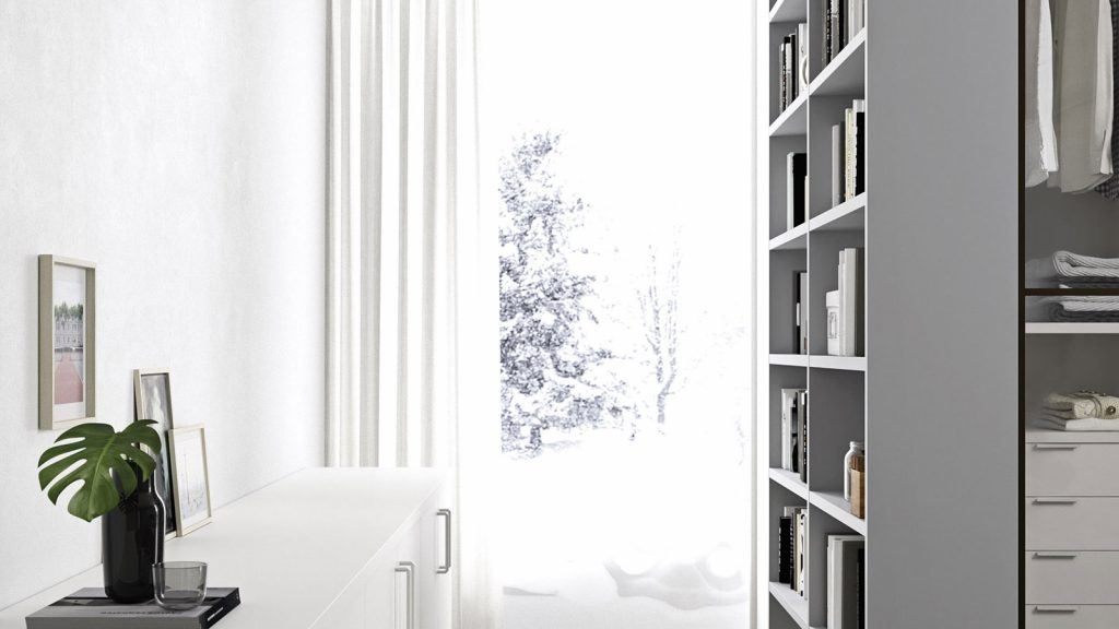 bibliothèque design genève grise