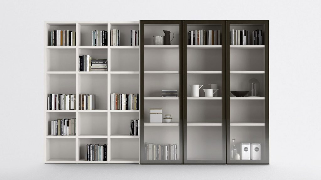 bibliothèque design geneve verres