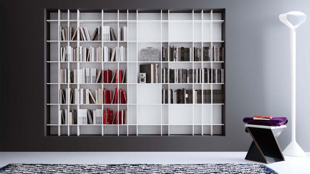 bibliothèque design suspendue aix les bains slim