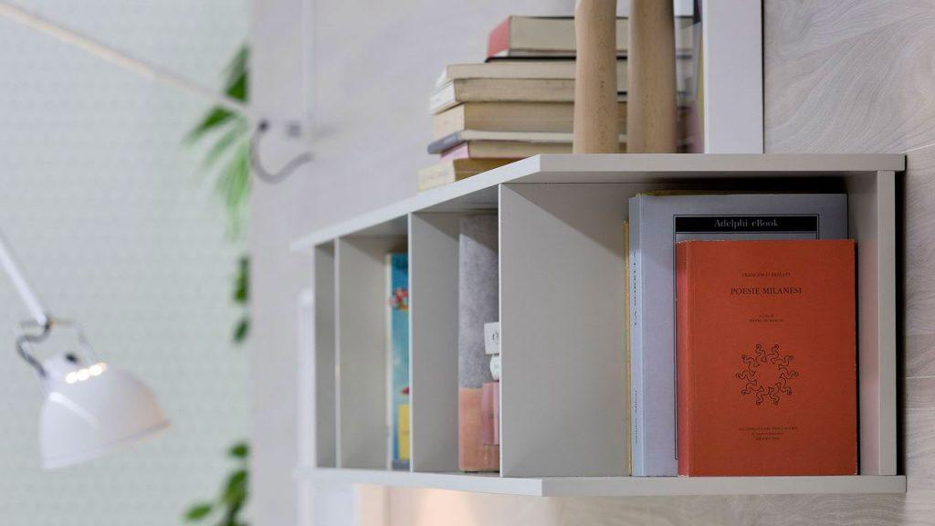 bibliothèque design thonon blanche